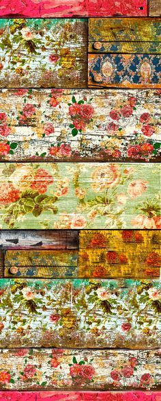 old roses: Wallpaper on old wood, then sandpaper.... these floors boards are amazing !!! i want them in my new house