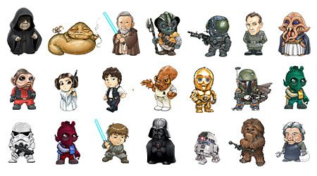 Starwars cartoon icons Star Wars Pinterest Icons UXUI Designer And Icons