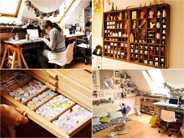 20 Creative Craft Spaces to Inspire Your Own...Karen way studio page