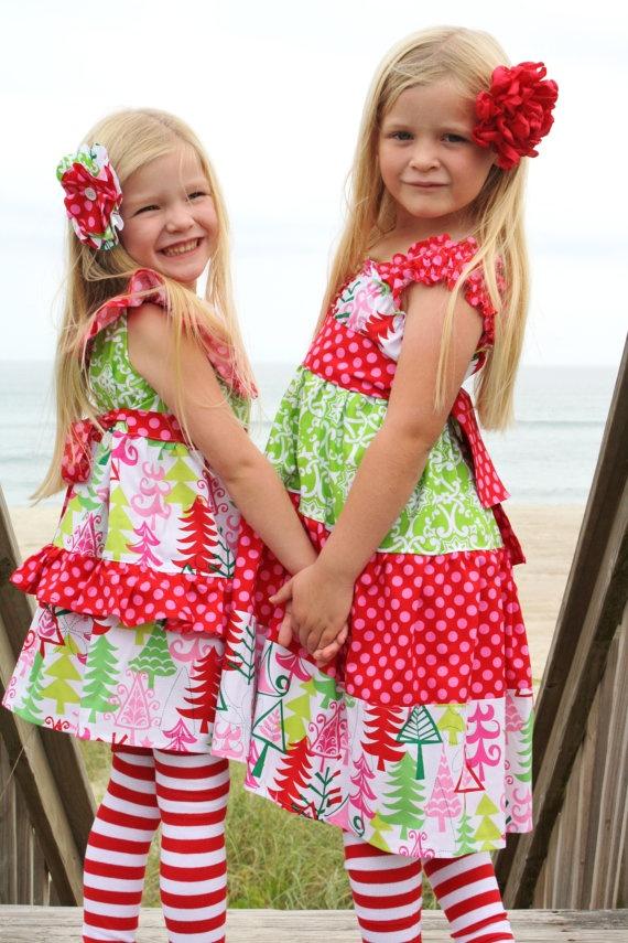 Holiday Blythe ruffle neck dress You choose size...MOMI boutique. $56.00, via Etsy.