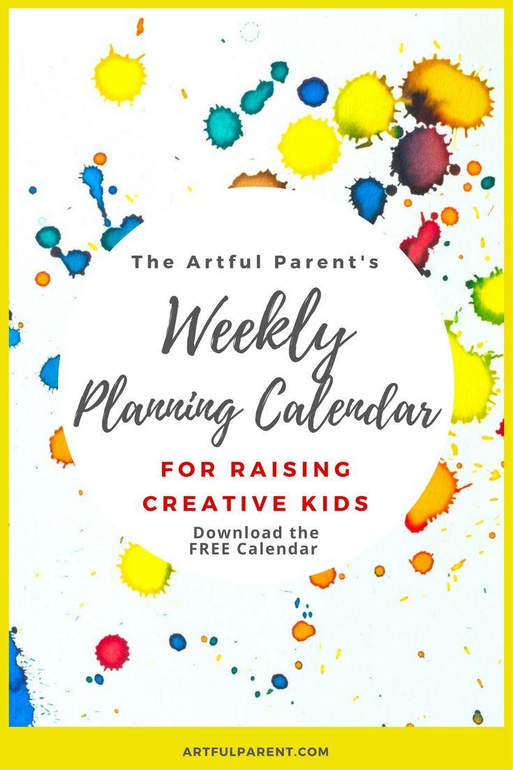 The Artful Parent Weekly Planning Calendar