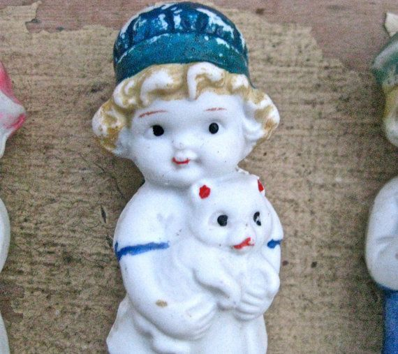 Vintage frozen charlotte penny doll small japan by pinksupply, $14.00