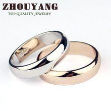 Erkek ve Kadın 18K Altın Kaplama Yüksek Polonya Düğün bant Klasik halkaları için Italina İlk R049 R050 (Çin (Anakara))