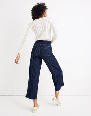 c3d2182141cf Madewell x Karen Walker® Blazar Zip Wide-Leg Jeans in walker wash image 3
