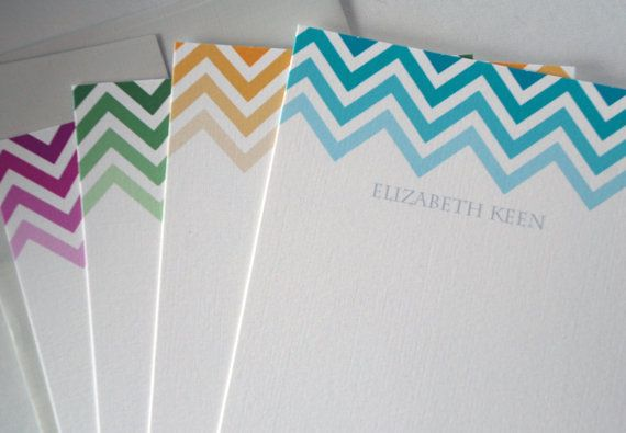 rowhouse14 does really good personalized stationary... I love this chevron pattern