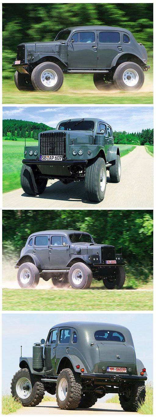 """""""beautiful off-road ride"""" - might be a custom Volvo """"Sugga"""" TP-21 - The 3-ton weighing Volvo had been made for the Swedish army, functioning as a radio wagon. Exactly 724 were produced between 1953-1958. Based upon the Volvo PV800, it was driven by a six cylinder 3.6 litre engine. Thanks to """"Bag Full of Guns"""", Richard White, and Lokir Leika-vllr ."""