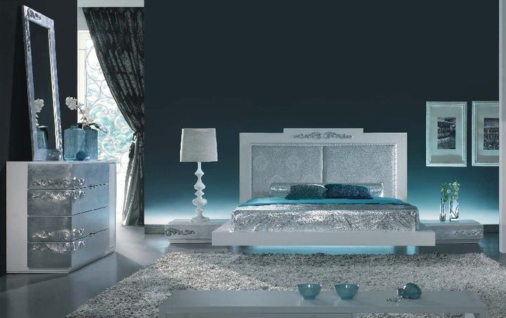 White And Silver Bedroom Blue | Looking Inside (Interiors) | Pinterest | Silver  Bedroom, Bedrooms And Silver Bedroom Decor