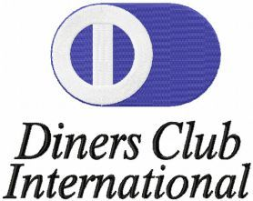 Diners Club International logo machine embroidery design. Machine embroidery design. www.embroideres.com