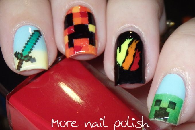 Digital Dozen - Get to know me week - Day 1 - Minecraft and tbnrfrags ~ More Nail Polish