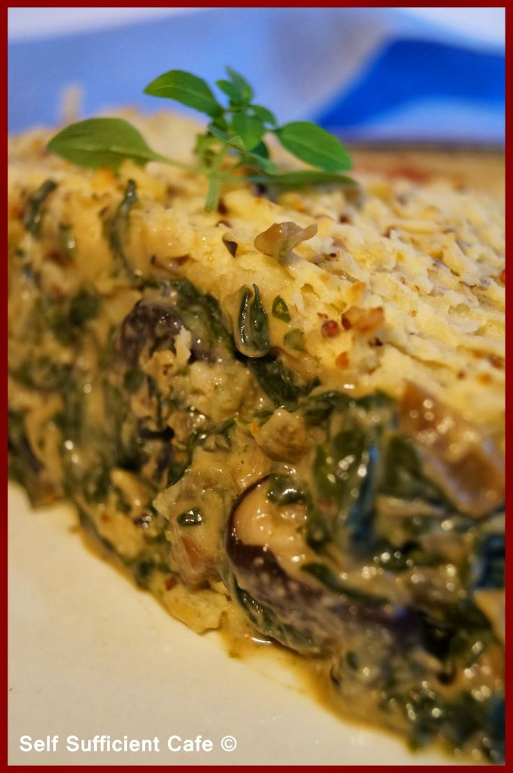 Spinach & Mushroom Pie
