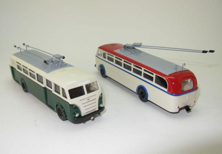 LOWA W602a Oberleitungsbus trolleybus O-Bus 1955 DDR UdSSR - 1:87 HO