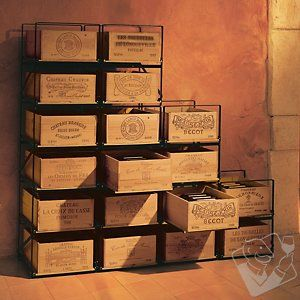 wine case storage bins
