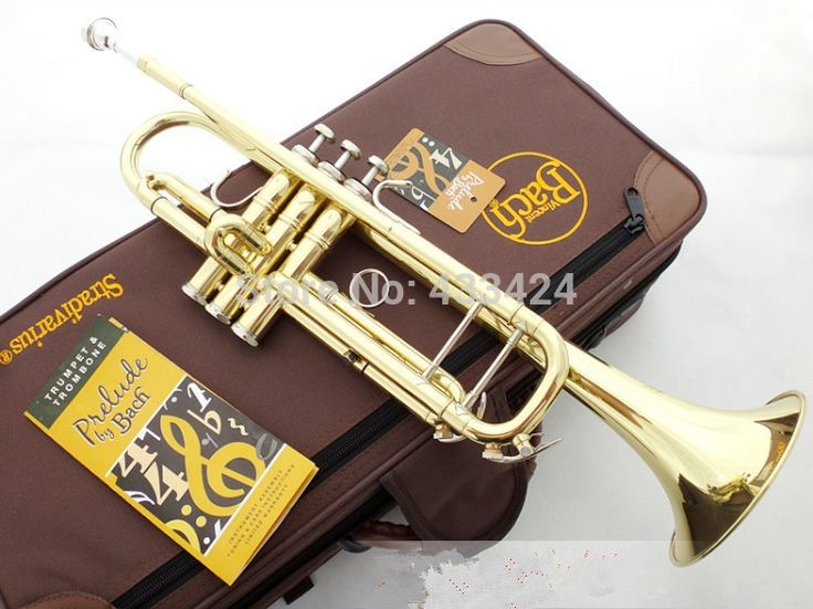 268.00$  Buy here - http://aliri7.worldwells.pw/go.php?t=32253193911 - American Bach TR-600 Gold-Lacquer B flat Bb professional trumpet Top musical instruments in Brass trompete trumpeter bugle