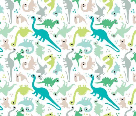 Cute Baby Boy Pastel Dinosaur Fantasy Series Fabric By Adorable Boy Patterns