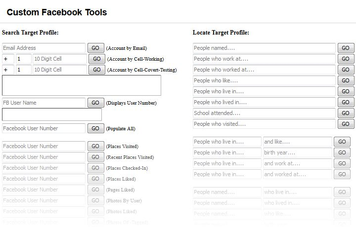 Facebook Search Tool by IntelTechniques.com