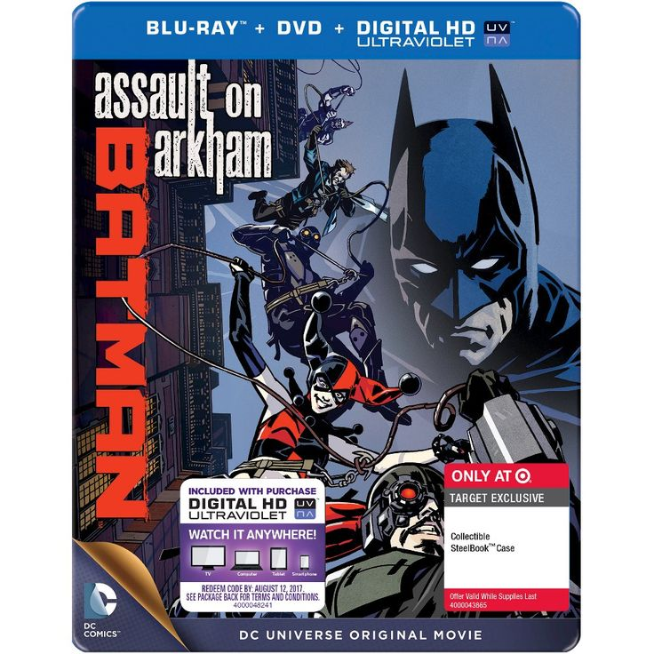 Dcu Batman: Assault on Arkham (Blu-ray+DVD+ Digital HD UltraViolet) (Steelbook) - Target Exclusive