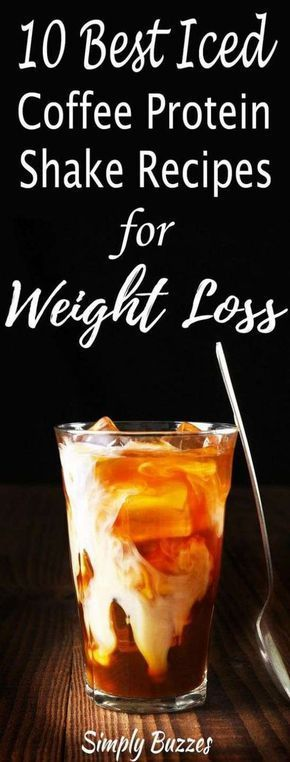 Iced Coffee Protein Shake Recipes For Weight Loss #NutritionForWeightLoss