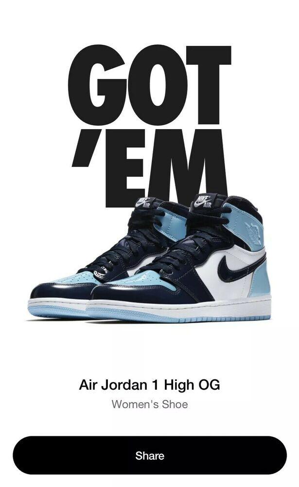 cc179cfb673a4 Nike Air Jordan Retro 1 Blue Chill sz 9 womens sz 7.5 mens LIMITED ...