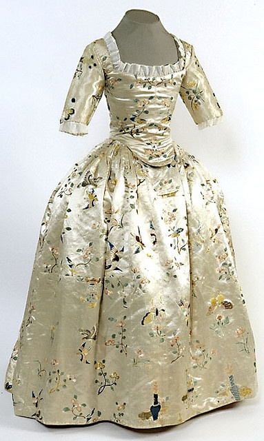18thC Chinese silk dress