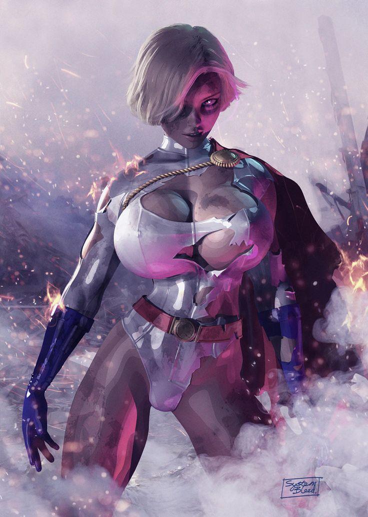 Power Girl Battle Damage by Systembleed on DeviantArt