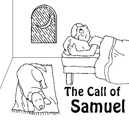 I listen to god coloring pages ~ samuel hears god coloring page - Google Search | Coloring ...