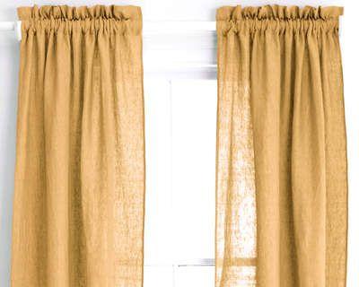 chambray linen flax panel pine cone hillpine coneswindow curtainsrod