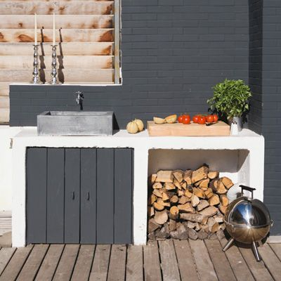 Fregadero exterior nuestra casa pinterest fregaderos for Cocina exterior jardin