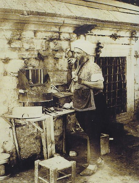 A coffee hawker in Istanbul, early 20th century