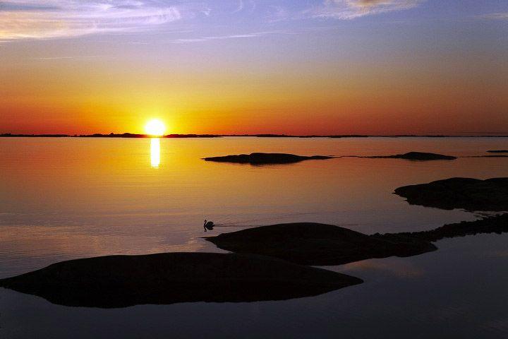 Solnedgång - Stockholms skärgård