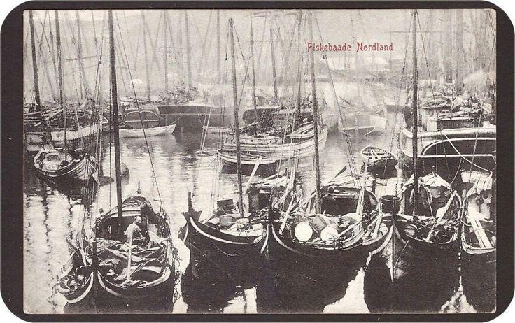 Nordland. Fiskebaade. Utg Mittet & Co.Tidlig 1900-tallet