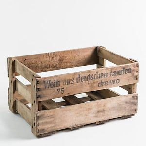 Alte Weinkisten mit original Aufdruck - Holzkisten, Dekokisten, Vintage