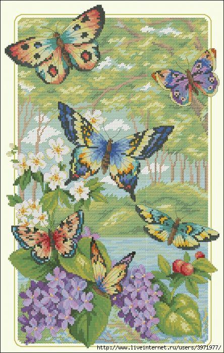 Мобильный LiveInternet Танец бабочек.Вышивка. | Ksantiya111 - Дневник Ksantiya111 |