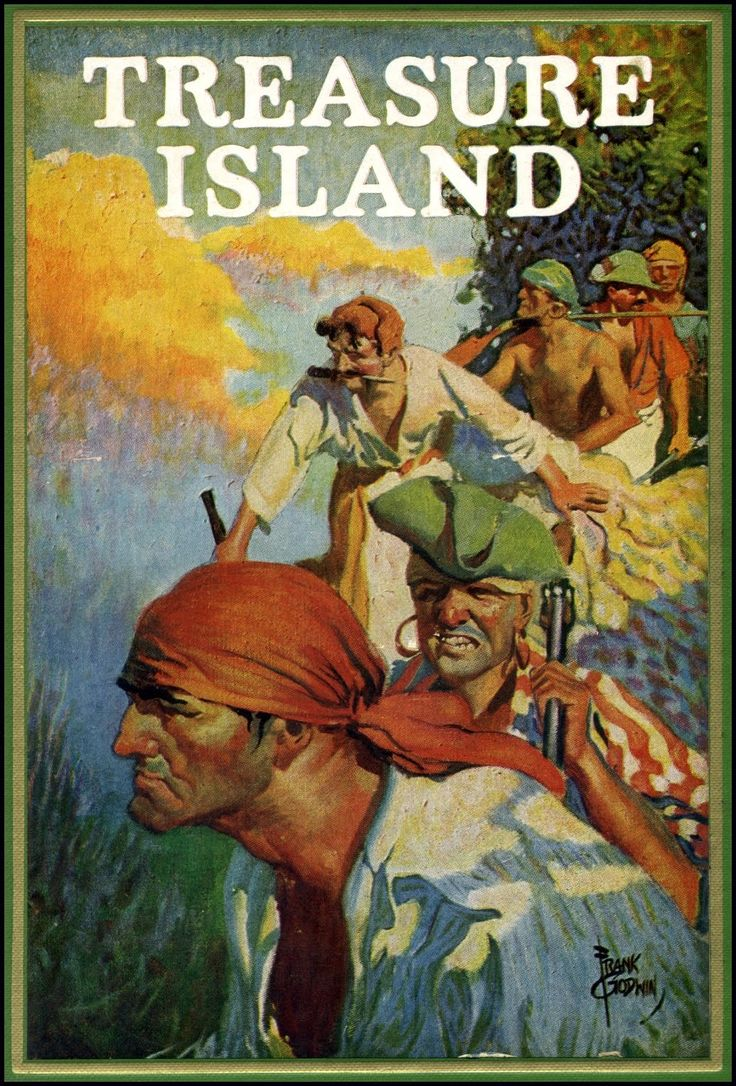 Treasure Island by Robert Louis Stevenson, 1924. Cover by ...