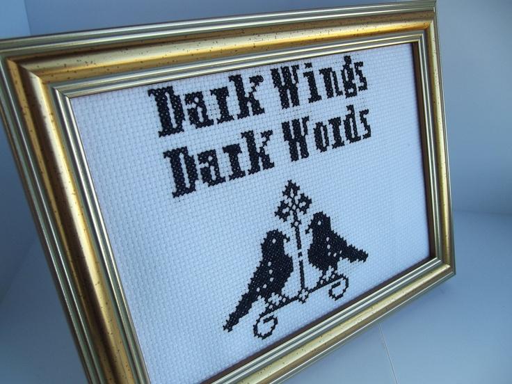 Game of Thrones Dark Wings Dark Words Framed Cross Stitch. £15.00, via Etsy.