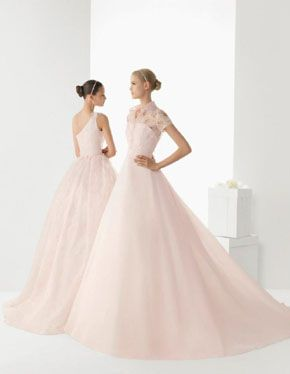 Vestidos de novia en rosa, pink wedding dresses. Rosa Clará 2013