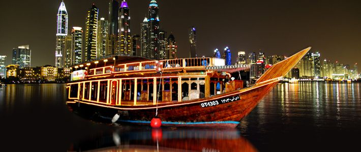 #GalaxyTourism Offers Book #DubaiMarinaDhowDinnerCruise Tour Packages 2016. Enjoy romantic boat ride and buffet dinner around the marina. http://goo.gl/u6pxg4