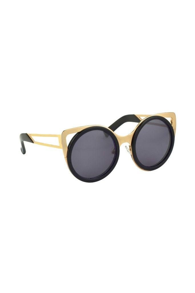 VVIIYJ Sonnenbrille Triangle Cat Eyes Sonnenbrille Quadrilateral Butterfly Sonnenbrille Herren ,Amber