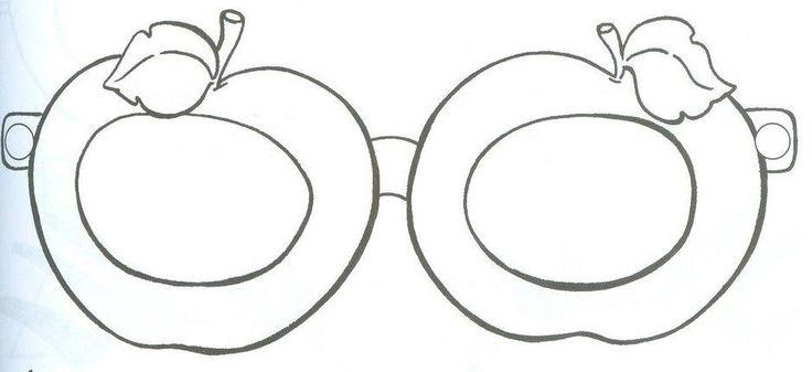 Appel bril, free printable