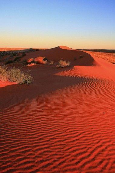 Simpson Desert sand dunes, Australia.