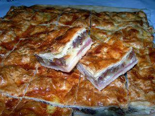 Cocinando entre Olivos: Empanada de queso de cabra, bacón y dátiles. Paso ...