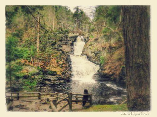 Raymondskill Falls in Milford Pennsylvania