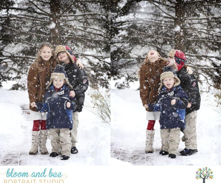 Fun kid photos winter snow session
