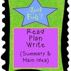 If you are working on summarizing or main idea, with nonfiction texts, this is a fun topic: April Fools Day!   Includes: *  a one-page text (readi...
