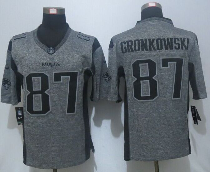 5b122e485 2016 New Nike New England Patriots 87 Gronkowski Gray Men s Stitched Gridiron  Gray Limited Jersey