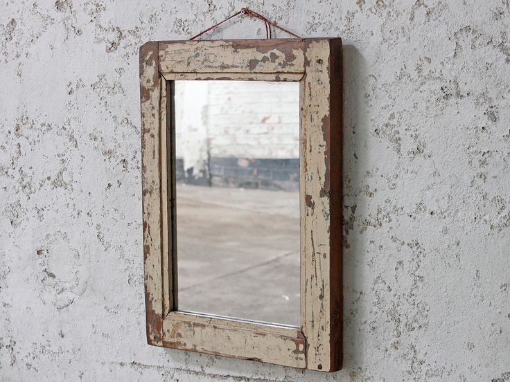 Shabby Chic White Mirror from Scaramanga's vintage furniture and interior collection #vintage #interior #homeinspo #inspiration #ideas #homedecorideas #mirror #white