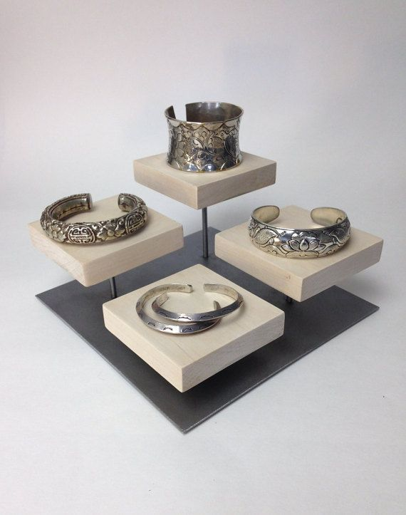 Bracelet Display Metal And Wood Jewelry Display For
