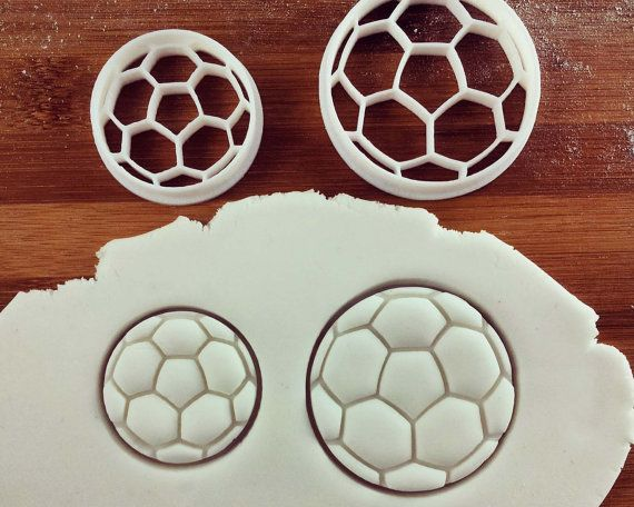Football Soccer Cookie Cutter  cutters also suitable for by Made3D