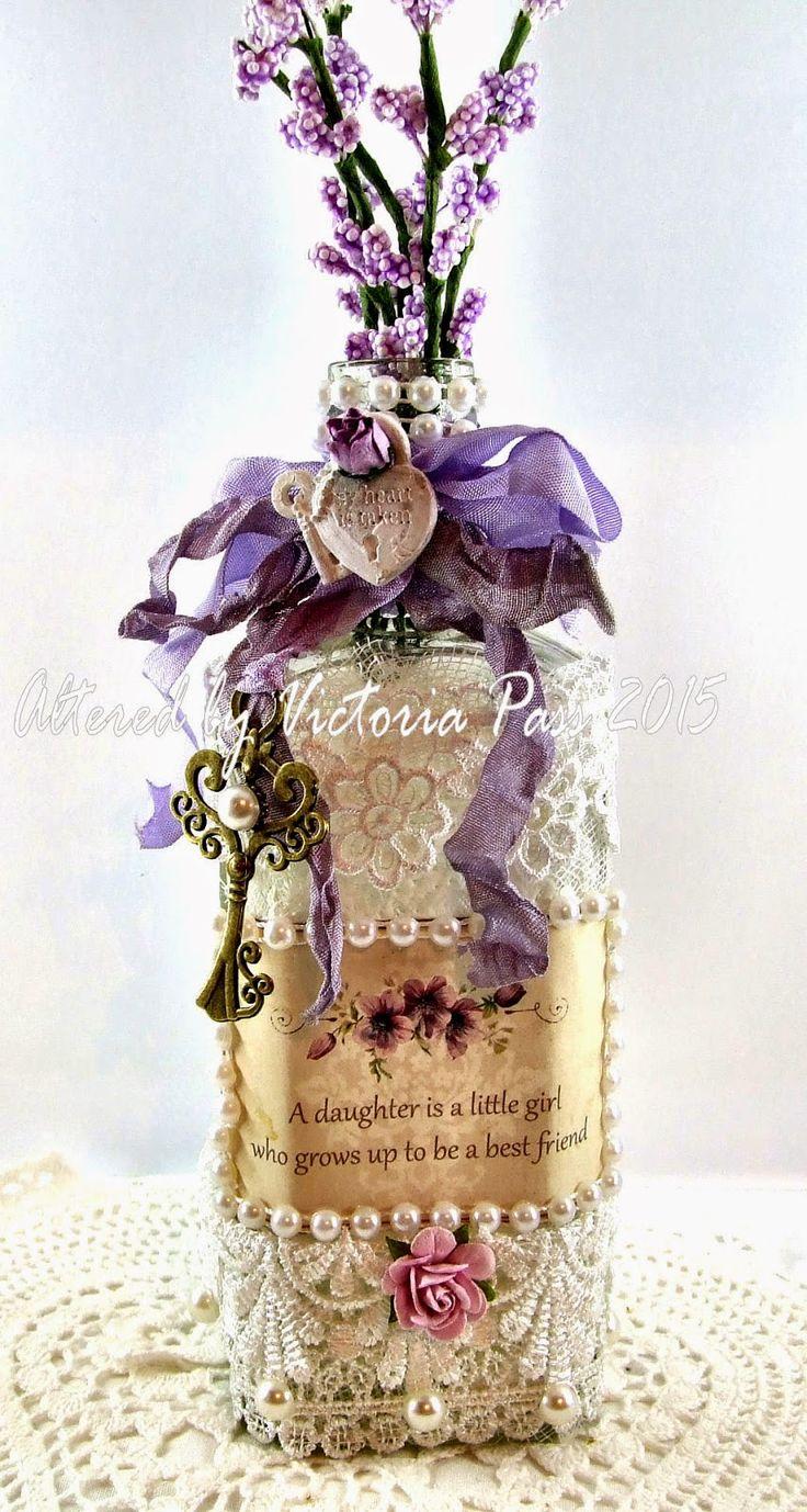 Live & Love Crafts' Inspiration and Challenge Blog: Altered Glass Bottle