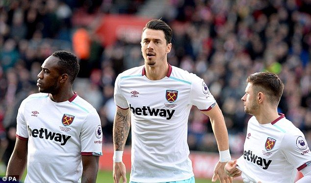 Jose Fonte, playing his second West Ham game, made a return to former club Southampton...