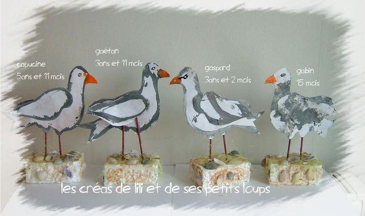 Meeuwen knutselen met kleuters / Les mouette des petits loups